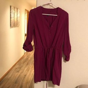 Cute! Cranberry drawstring dress